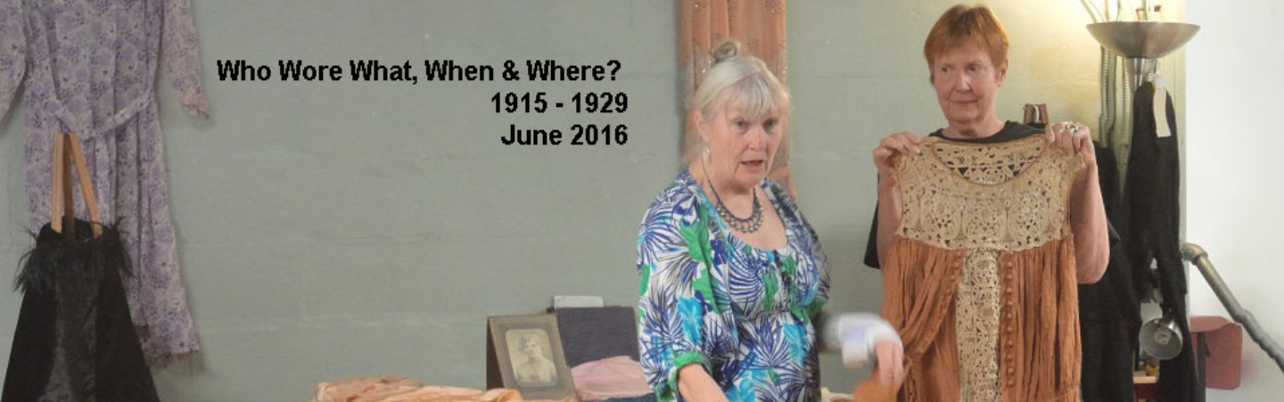 Who Wore What, When & Where? 1915-1929 – June 2016